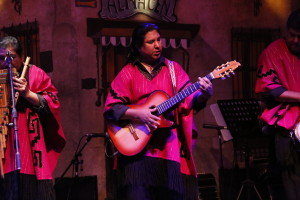 South American Indian Music Group on Stage
