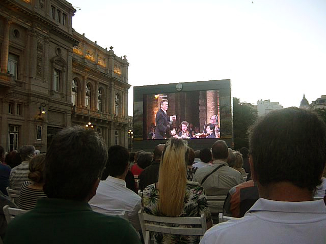Outdoor Video Concert at Teatro Colon Hall